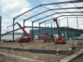 Steel structure and purlins